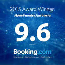 award winning Alpine Farmstay Apartments